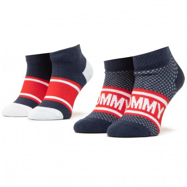 Súprava 2 párov kotníkových ponožiek unisex TOMMY HILFIGER - 100000812 Tommy Original 001