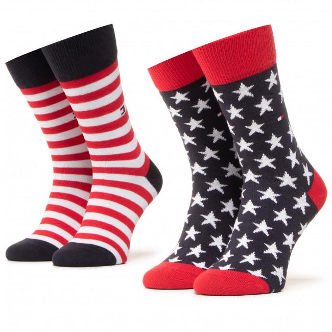 Súprava 2 párov vysokých ponožiek dámskych TOMMY HILFIGER - 100000816 Tommy Original 085