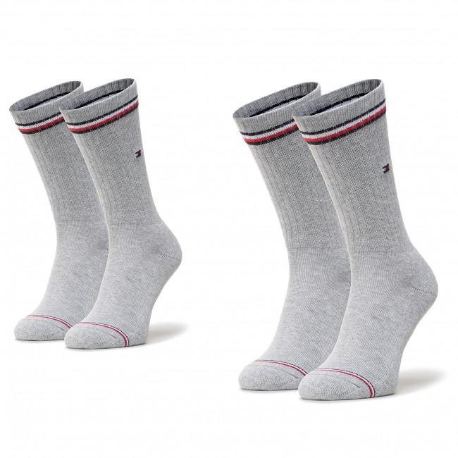 Súprava 2 párov vysokých ponožiek unisex TOMMY HILFIGER - 100001096 Tommy Original 085