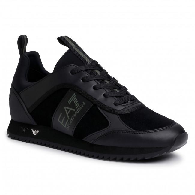 Sneakersy EA7 EMPORIO ARMANI - X8X027 XK173 N526  Blk/Blk/Silv/Grape L