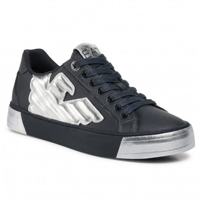 Sneakersy EA7 EMPORIO ARMANI - X8X037 XK174 N090 Night/Silver