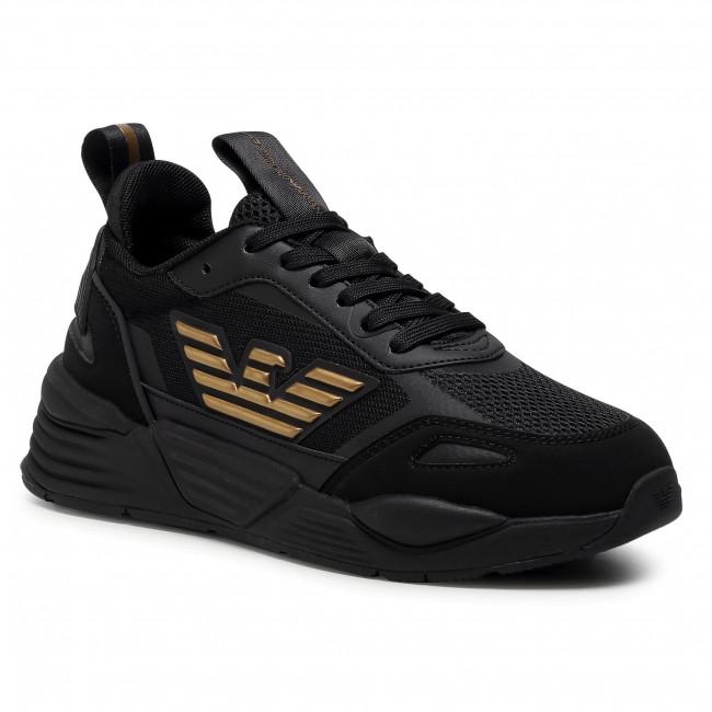 Sneakersy EA7 EMPORIO ARMANI - X8X070 XK165 M701  Triple Black/Gold