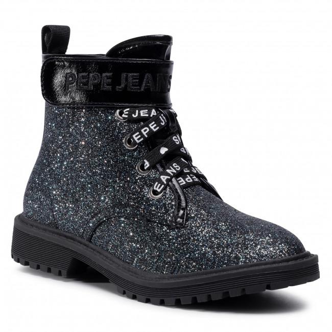 Outdoorová obuv PEPE JEANS - Hatton Velcro PGS50162 Volga Blue 577