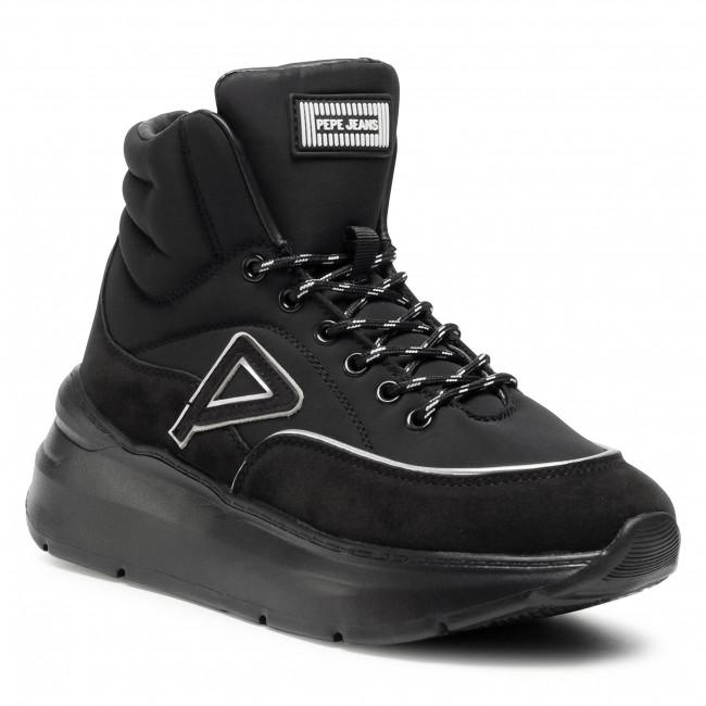 Členkové čižmy PEPE JEANS - Peckam Ski PLS31039  Black 999