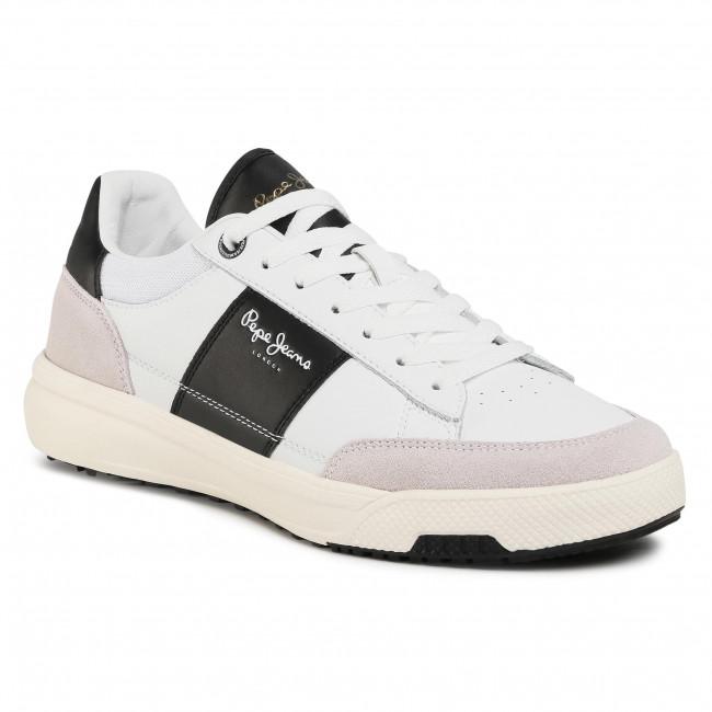 Sneakersy PEPE JEANS - Slate Basic PMS30677 White 800