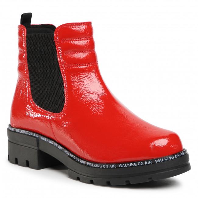 Kotníková obuv s elastickým prvkom CAPRICE - 9-25428-25 Red Naplak 502