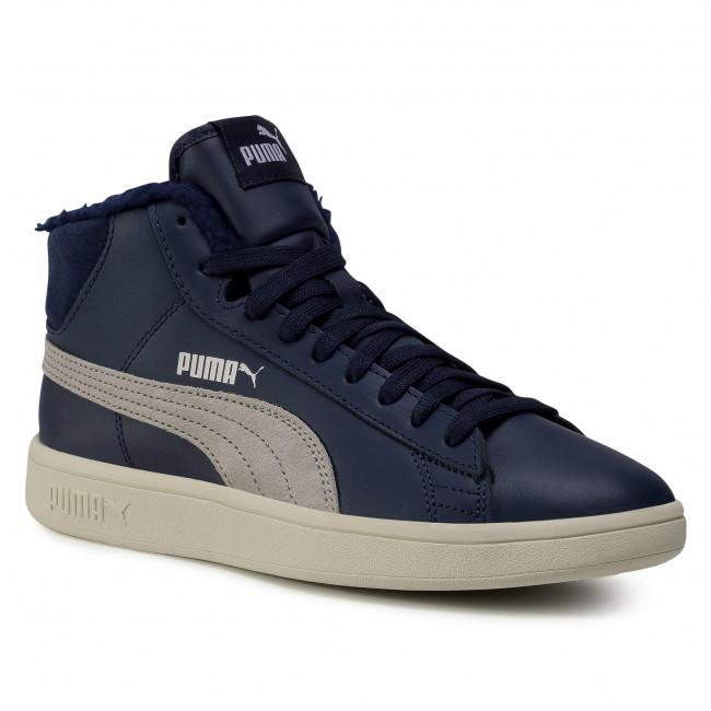 Sneakersy PUMA - Smash v2 Mid L Fur Jr 366896 06 Peacoat/Grey Violet