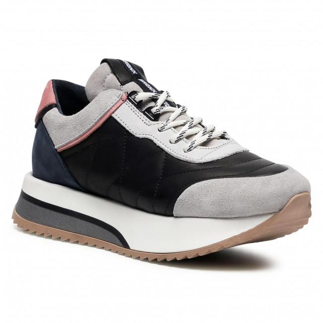 Sneakersy BRONX - 66361-CA I.Grey/Black/Pink/D.Blue 3410