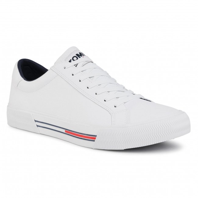 Tenisky TOMMY JEANS - Essential Leather Sneaker  White YBR