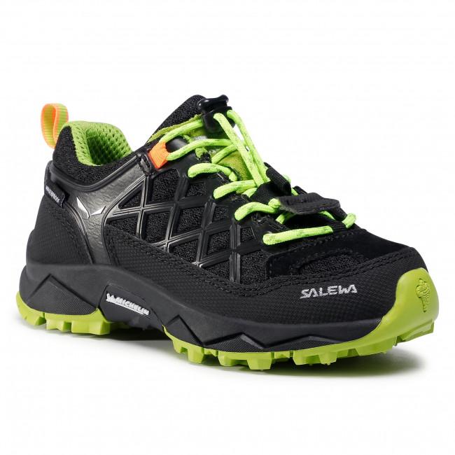 Trekingová obuv SALEWA - Jr Wildfire Wp 64009-0986 Black Out/Cactus