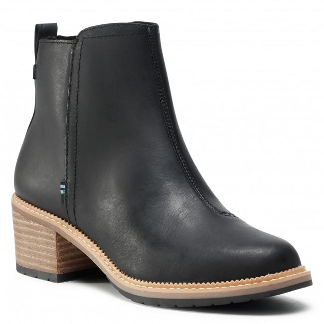 Členkové čižmy TOMS - Marina 10015827  Black Smooth Waxy Leather
