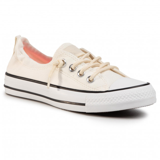 Tramky CONVERSE - Ctas Shoreline Slip 567734C Egret/White/Electric Blush