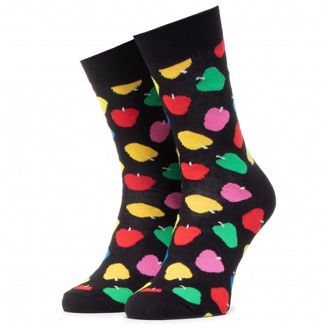 Ponožky Vysoké Unisex HAPPY SOCKS - APP01-9001 Čierna Farebná