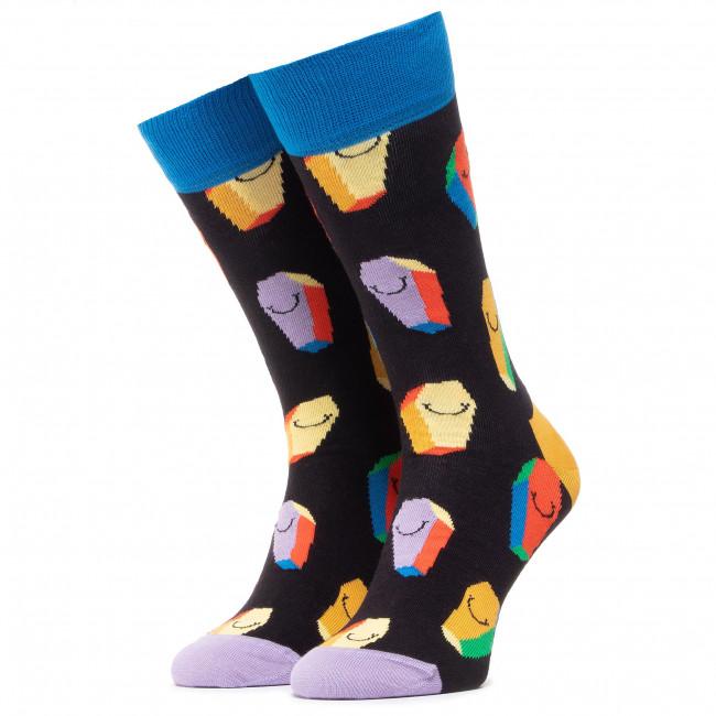 Ponožky Vysoké Unisex HAPPY SOCKS - COF01-9400 Čierna Farebná