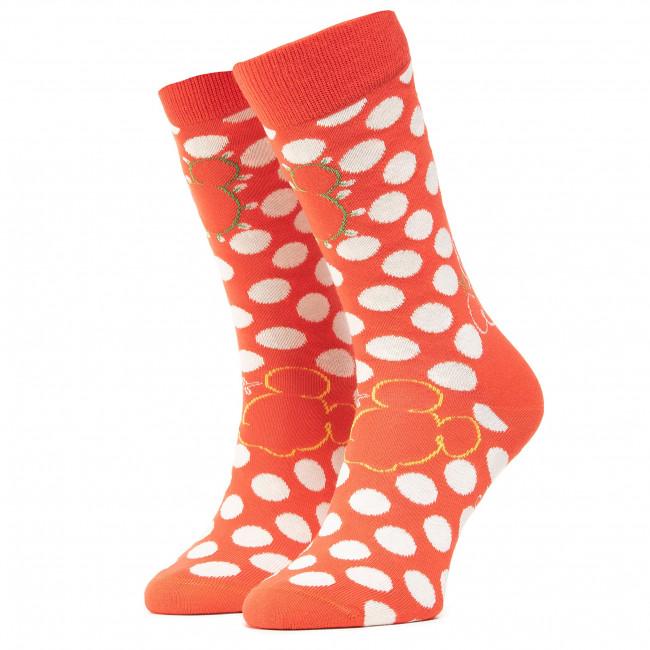 Ponožky Vysoké Unisex HAPPY SOCKS - DNY01-4500 Červená