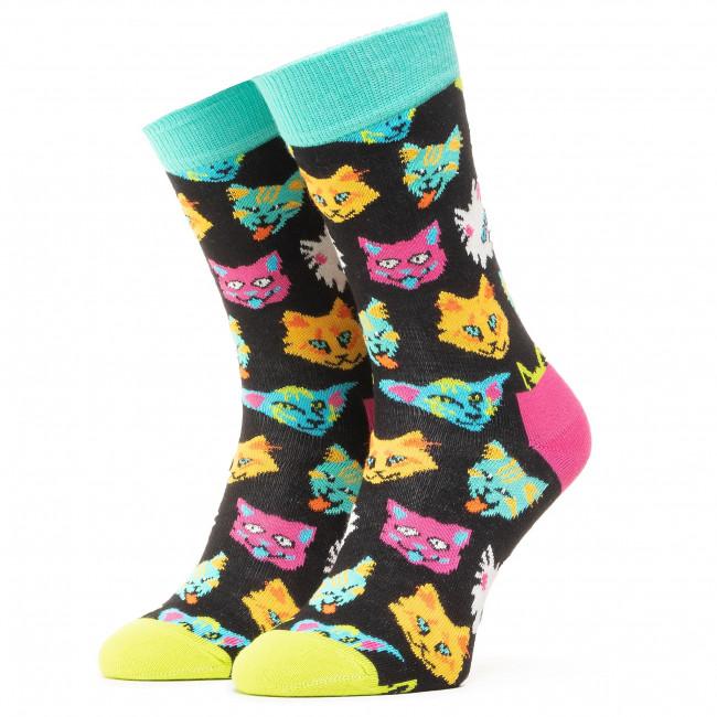 Ponožky Vysoké Unisex HAPPY SOCKS - FCA01-9300 Čierna