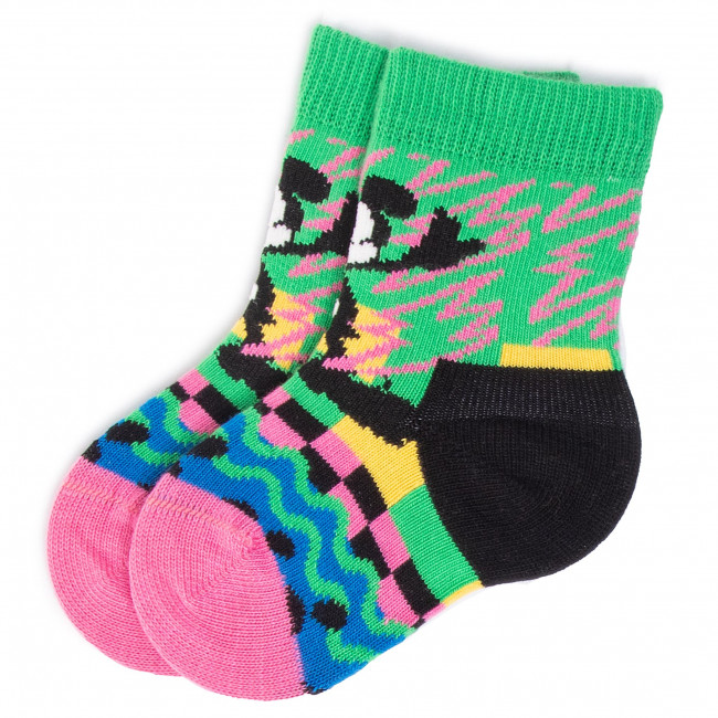 Ponožky Vysoké Detské HAPPY SOCKS - KDNY01-0101 Farebná Zelená
