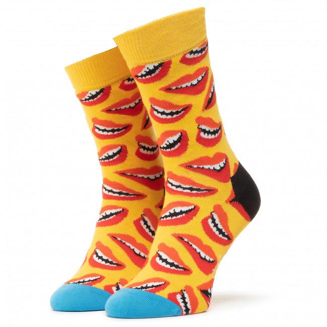 Ponožky Vysoké Unisex HAPPY SOCKS - LIP01-2200 Žltá