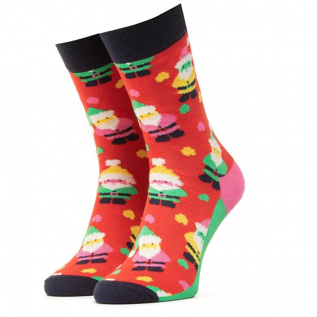 Ponožky Vysoké Unisex HAPPY SOCKS - XSAN01-4300 Červená Farebná