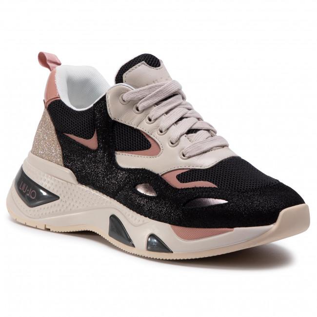 Sneakersy LIU JO - Hoa 01 BF0017 PX096 Black/Toupe S1029
