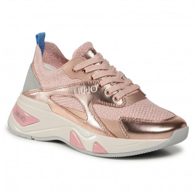 Sneakersy LIU JO - Hoa 02 BF0019 PX098 Rose Gold A7771