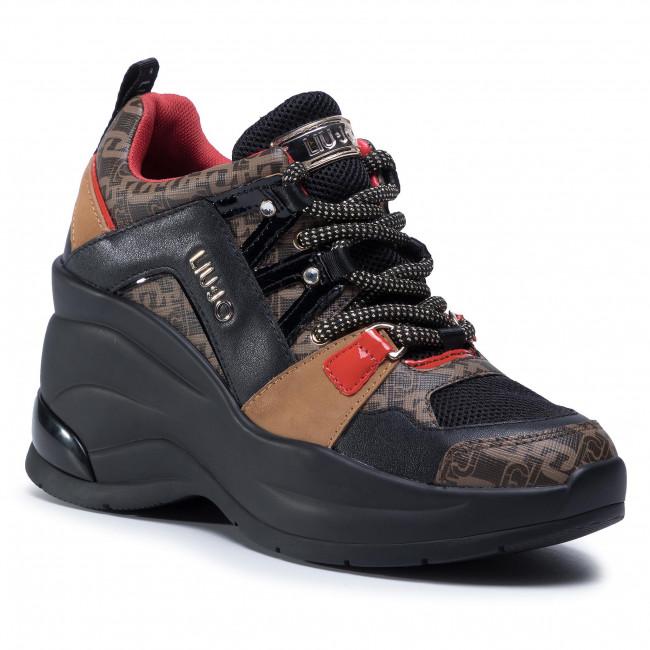 Sneakersy LIU JO - Karlie Revolution 26 BF0095 EX066 Black/Brown S1033