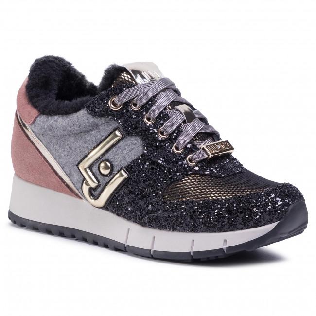 Sneakersy LIU JO - Gigi 2 BF0103 TX012 Black/Rose S19B1