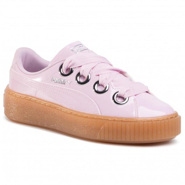 Sneakersy PUMA - Basket Platform Kiss Anodized Jr 366822 03 Winsome Orchid/Puma Silver