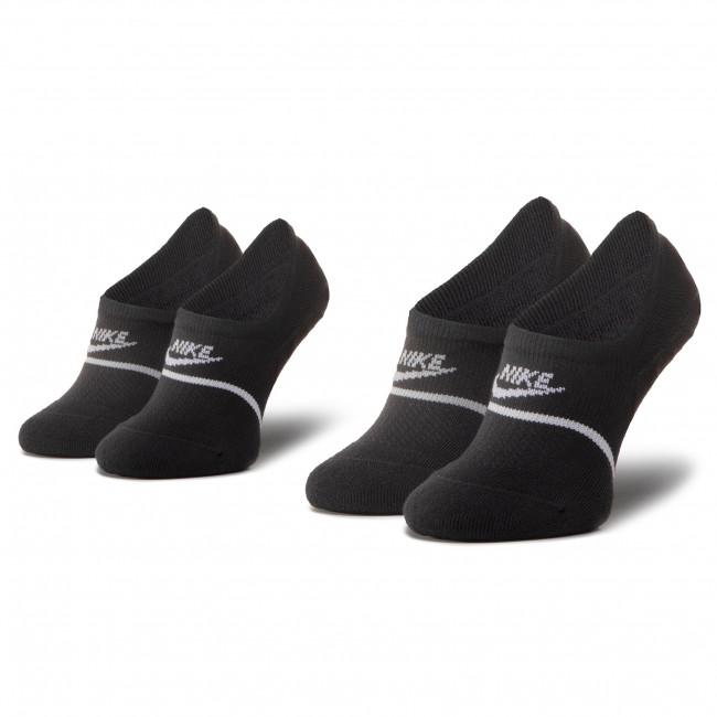 Súprava 2 párov krátkych ponožiek unisex NIKE - CU0692 010 Čierna