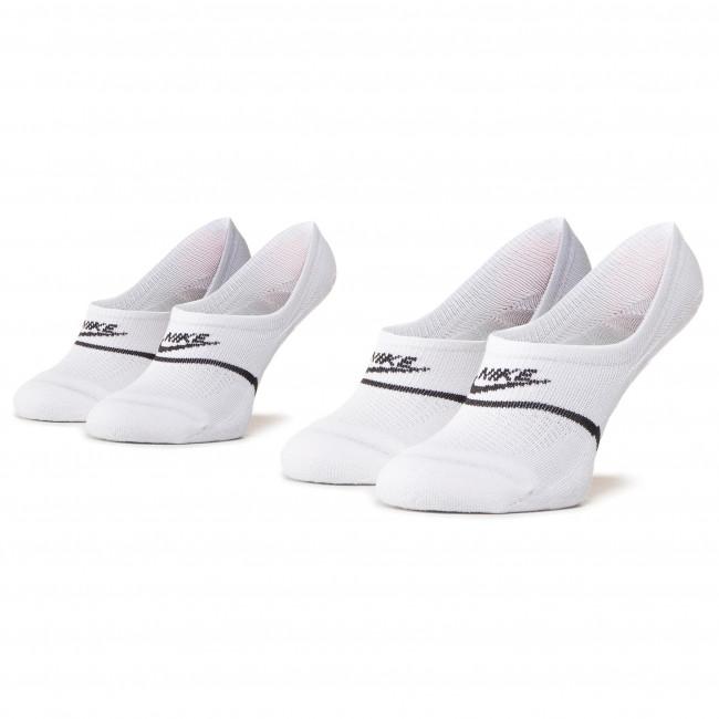 Súprava 2 párov krátkych ponožiek unisex NIKE - CU0692 100 Biela
