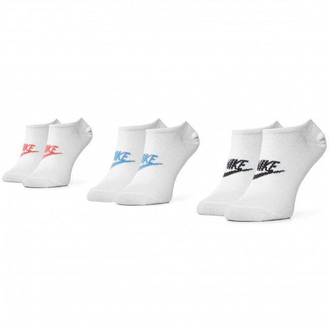 Súprava 3 párov kotníkových ponožiek unisex NIKE - SK0111 911 Biela