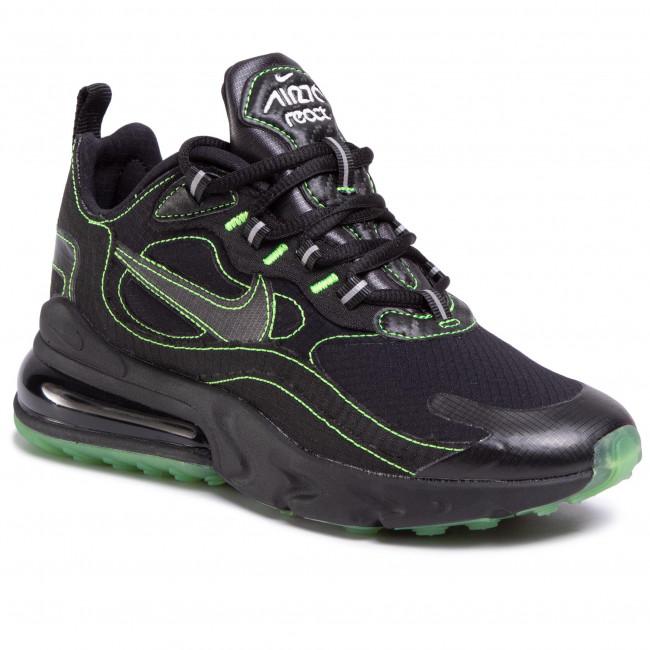 Topánky NIKE - Air Max 270 React Sp CQ6549 001 Black/Black/Electric Green