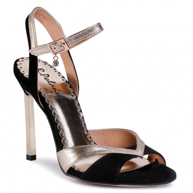 Sandále R.POLAŃSKI - 1104 Czarny/Złoty