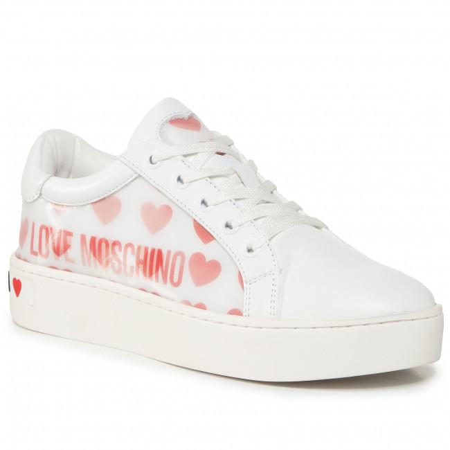 Sneakersy LOVE MOSCHINO - JA15023G1BIA510A Bian