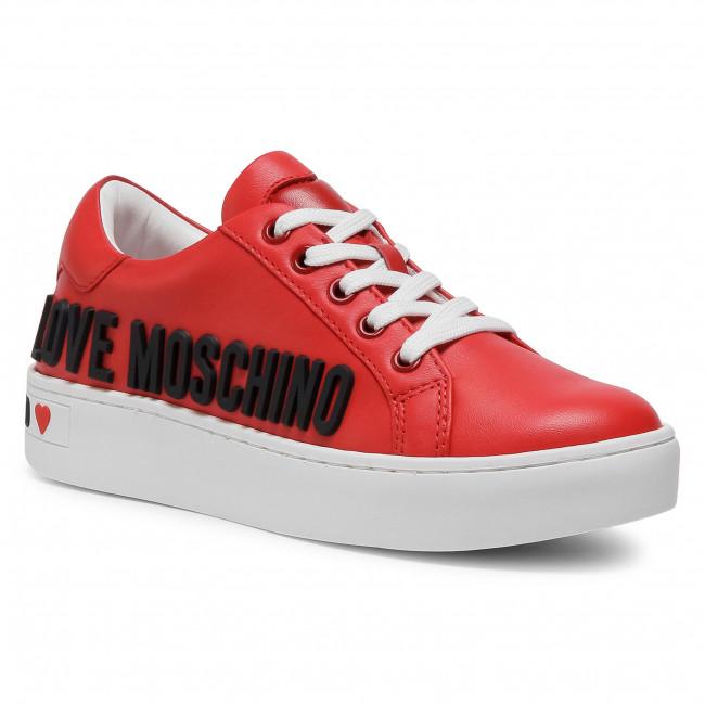 Sneakersy LOVE MOSCHINO - JA15063G1BIA0500 Rosso