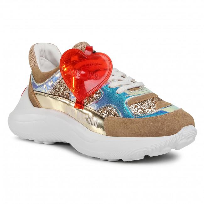 Sneakersy LOVE MOSCHINO - JA15196G1BII290A Glit/Met/Sp.Plat