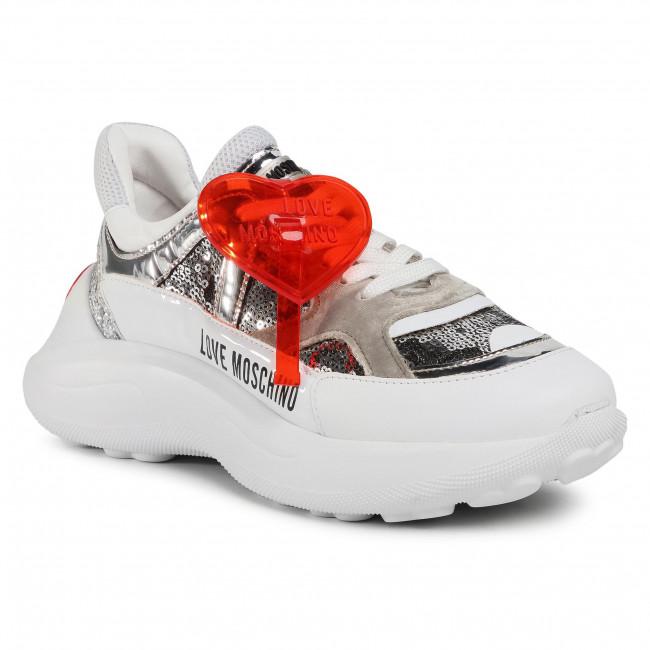 Sneakersy LOVE MOSCHINO - JA15196G1BIL390A  Arg/Bia