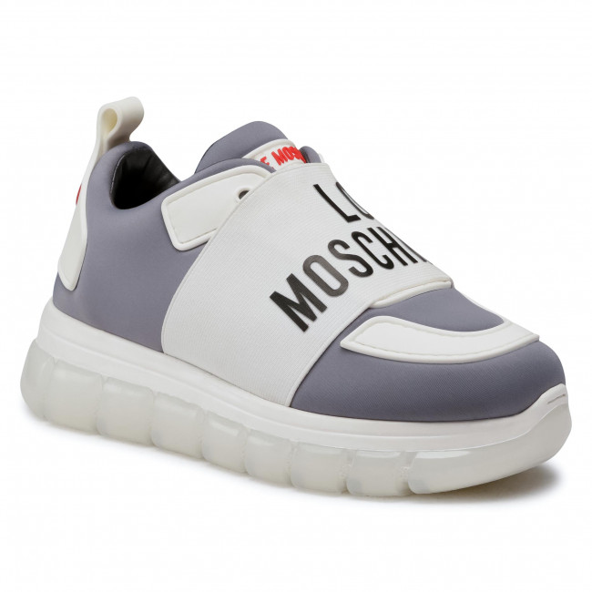 Sneakersy LOVE MOSCHINO - JA15555G0BJY0010  Perla