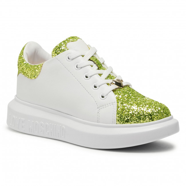 Sneakersy LOVE MOSCHINO - JA15654G0BJ6240A Lime/Bia