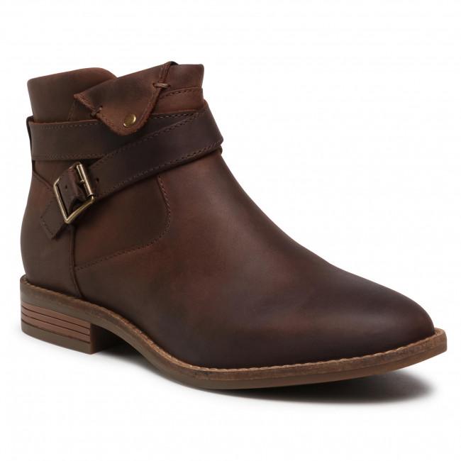 Členkové čižmy CLARKS - Camzin Dime 261530634  Dark Brown Leather