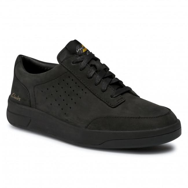 Sneakersy CLARKS - Hero Air Lace 261528804  Black Nubuck