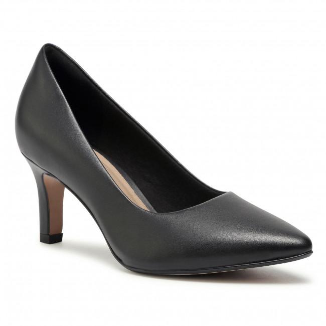Lodičky CLARKS - Illeana Tulip 261532164 Black Leather