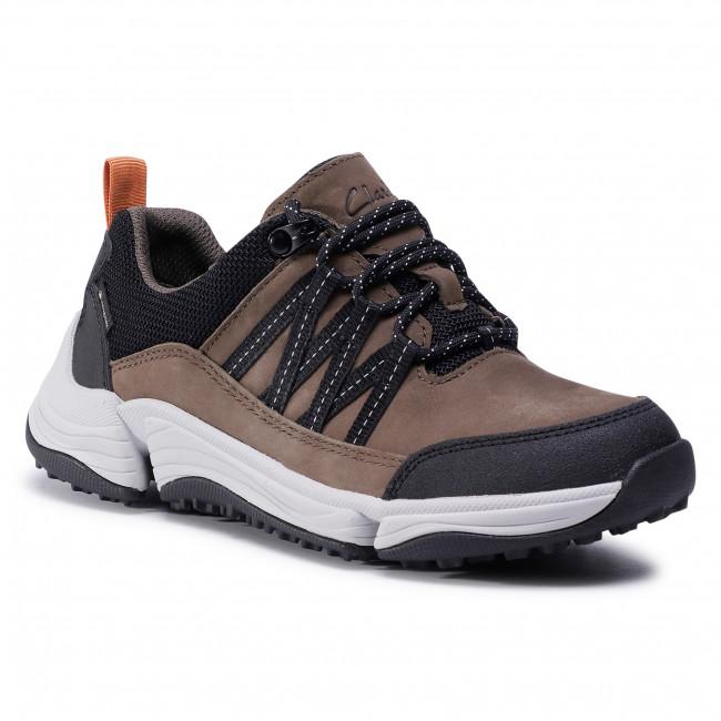 Trekingová obuv CLARKS - TriPathLo Gtx GORE-TEX 261513914  Dark Olive Combi