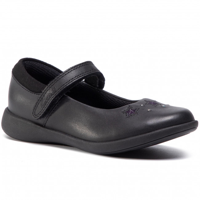 Poltopánky CLARKS - Etch Bright K 261511246 Black Leather