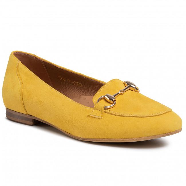 Lordsy R.POLAŃSKI - 1138 Żółty Zamsz Comfort