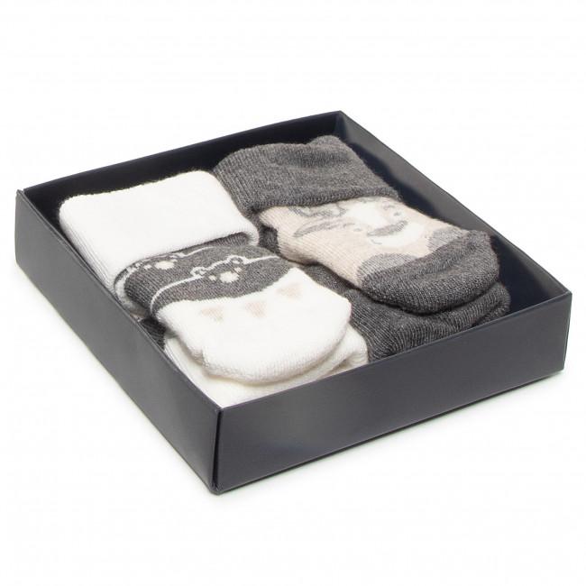 Súprava 2 párov kotníkových ponožiek detských TOM TAILOR - 93128 Grey Melange 150