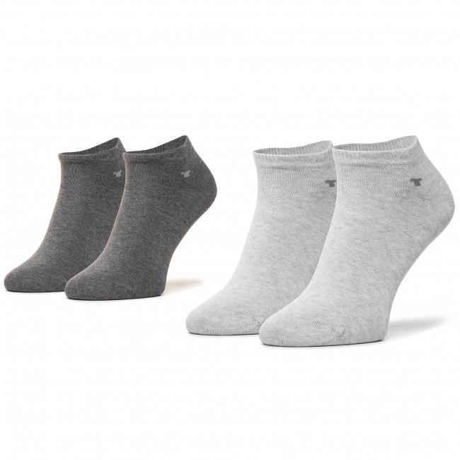 Súprava 2 párov kotníkových ponožiek unisex TOM TAILOR - 9411M Silver Grey 109