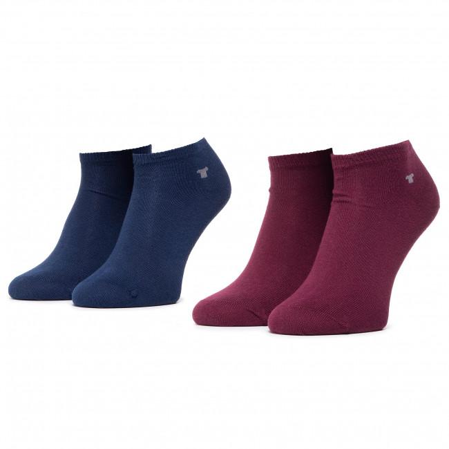 Súprava 2 párov kotníkových ponožiek unisex TOM TAILOR - 9411M Windsor Wine 324