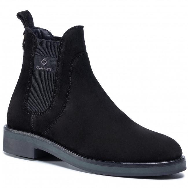 Kotníková obuv s elastickým prvkom GANT - Maliin 21553953 Black G00