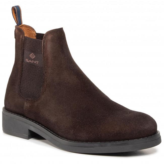 Kotníková obuv s elastickým prvkom GANT - Brookly 21653010 Dark Brown G46